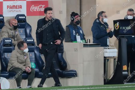 Diego Simeone during spanish La Liga match between Villarreal cf and Atletico de Madrid at La Ceramica Stadium on February 28, 2021. (Photo by Jose Miguel Fernandez/NurPhoto)