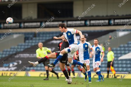Stewart Downing of Blackburn Rovers clears the ball during the Sky Bet Championship match between Blackburn Rovers and Coventry City at Ewood Park, Blackburn on Saturday 27th February 2021.  (Photo by Pat Scaasi/MI News/NurPhoto)