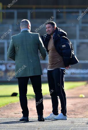 Oldham Athletic's Harry Kewell (Head Coach) before the Sky Bet League 2 match between Carlisle United and Oldham Athletic at Brunton Park, Carlisle on Saturday 27th February 2021.  (Photo by Eddie Garvey/MI News/NurPhoto)