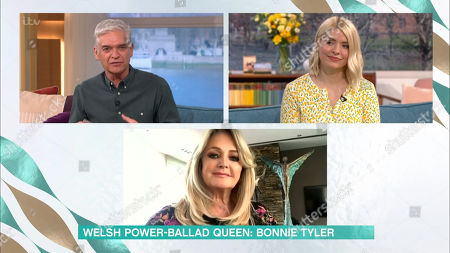Phillip Schofield, Holly Willoughby and Bonnie Tyler