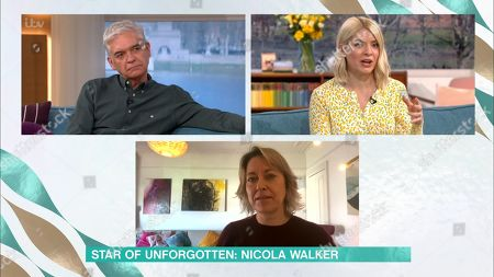 Stock Image of Phillip Schofield, Holly Willoughby and Nicola Walker