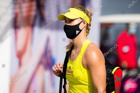 Angelique Kerber of Germany before her second-round match at the 2021 Qatar Total Open WTA 500 tournament