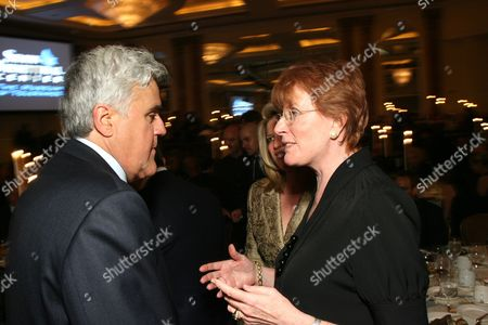 Jay Leno and Celia Sandys