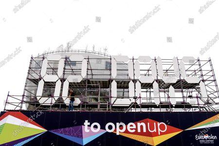 Editorial image of Richard Krajicek resets 2021 Eurovision countdown clock, Rotterdam, Netherlands - 01 Mar 2021