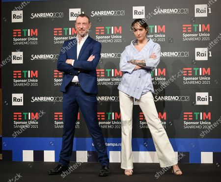Editorial photo of 71st Sanremo Music Festival, photocall, Sanremo, Italy - 01 Mar 2021