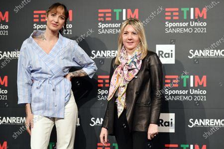 Ema Stokholma and Paola Marchesini director Rai 2