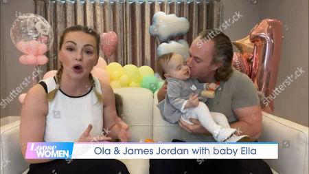 Ola Jordan, James Jordan and baby Ella