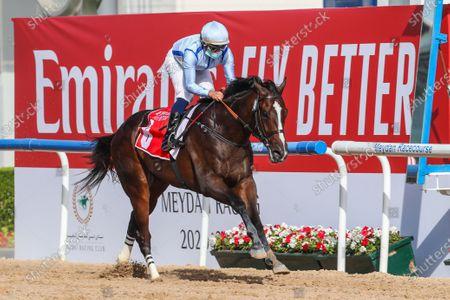 Editorial picture of Horse Racing, Meydan, Dubai, United Arab Emirates - 06 Mar 2021