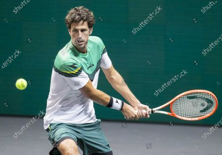 Robin Haase of the Netherlands in action during his first round match against Andy Murray of Britain at the ABN AMRO World Tennis Tournament in Rotterdam, the Netherlands, 01 March 2021.