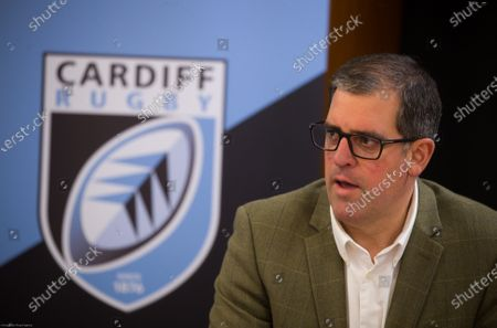 Cardiff Blues Chief Executive Richard Holland at the announcement the Cardiff Blues will become Cardiff Rugby at the start of the 2021-22 season