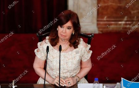Vice President Cristina Fernandez de Kirchner attends the opening session of Congress as Argentine President Alberto Fernández gives his annual State of the Nation speech in Buenos Aires, Argentina