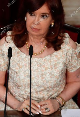 Vice President Cristina Fernandez de Kirchner attends Argentine President Alberto Fernández's State of the Nation address, which marks the opening session of Congress in Buenos Aires, Argentina