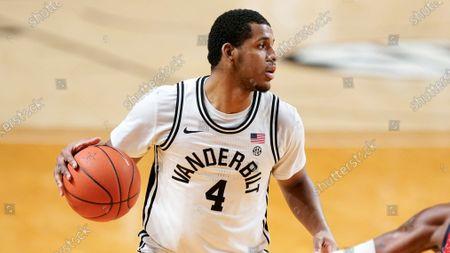Vanderbilt's Jordan Wright plays against Mississippi in an NCAA college basketball game, in Nashville, Tenn
