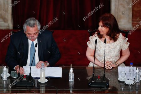 Editorial photo of Alberto Fernandez delivers his speech on the State of the Nation, Buenos Aires, Argentina - 01 Mar 2021