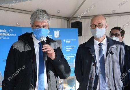 Laurent Wauquiez and Christophe Quiniou, Mayor of Meyzieu