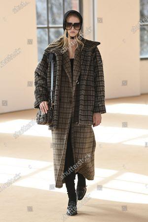 Editorial image of Womenswear, winter 2021, ready to wear, fashion show, Milano, Italy - Mar 2021