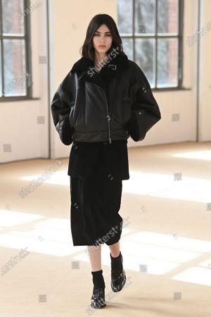 Editorial photo of Womenswear, winter 2021, ready to wear, fashion show, Milano, Italy - Mar 2021