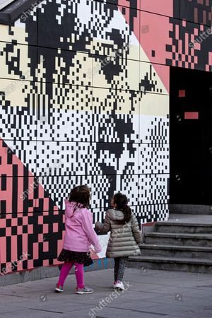 Editorial photo of Mural with two women kissing is first in Italy, Rome - 01 Mar 2021