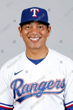 This is a 2021 photo of Luis Ortiz of the Texas Rangers baseball team. This image reflects the Texas Rangers active roster as of when this image was taken