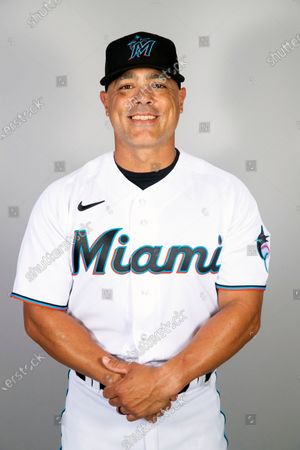 This is a 2021 photo of Robert Rodriguez of the Miami Marlins baseball team. This image reflects the Miami Marlins active roster as of when this image was taken