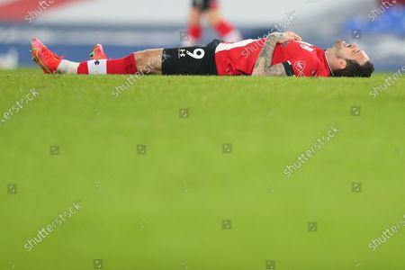 Danny Ings of Southampton reacts after the English Premier League soccer match between Everton FC and Southampton FC in Liverpool, Britain, 01 March 2021.