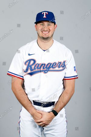 This is a 2021 photo of Joe Gatto of the Texas Rangers baseball team. This image reflects the Texas Rangers active roster as of when this image was taken