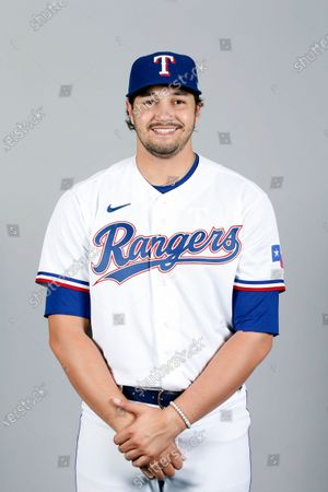Stock Photo of This is a 2021 photo of Tyler Phillips of the Texas Rangers baseball team. This image reflects the Texas Rangers active roster as of when this image was taken