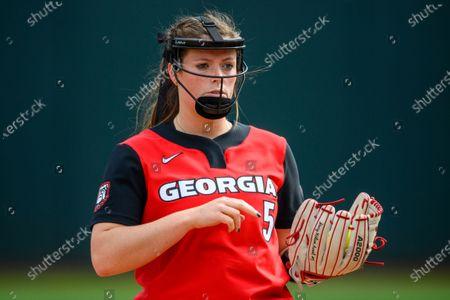 Georgia pitcher Mary Wilson Avant (5) during an NCAA softball game against Georgia Tech on in Atlanta