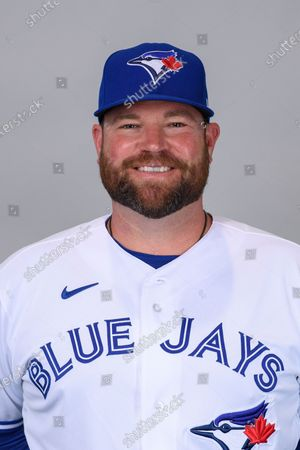 This is a 2021 photo of John Schneider of the Toronto Blue Jays baseball team. This image reflects the Toronto Blue Jays active roster as of when this image was taken