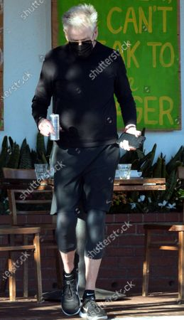 Stock Picture of Calvin Klein having lunch in West Hollywood