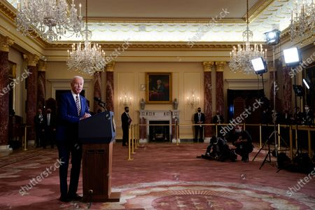 President Joe Biden speaks about foreign policy, at the State Department in Washington. As a presidential candidate, Joe Biden promised to make a pariah out of Saudi Arabia over the 2018 murder of dissident Saudi writer Jamal Khashoggi. But when it came time to actually penalize Saudi Arabia's crown prince, America's strategic interests prevailed