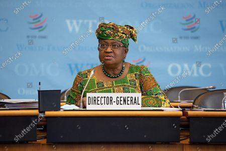 Editorial photo of Switzerland Geneva Wto Chief Ngozi Okonjo Iweala Taking Office - 02 Mar 2021