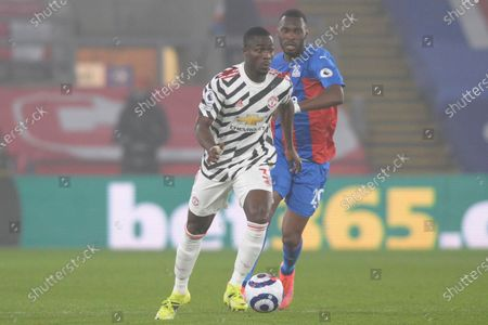 Eric Bailly of Manchester United in action during Premier League match between Crystal Palace and Manchester United at Selhurst Park in London - 3rd March 2021