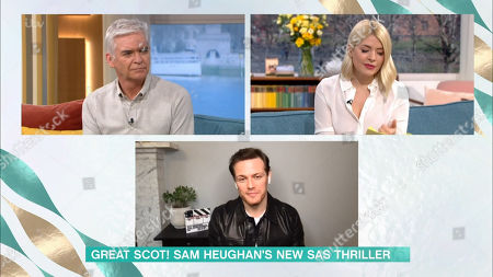 Stock Picture of Phillip Schofield, Holly Willoughby, Sam Heughan