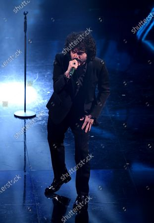 Francesco Renga performs on stage at the Ariston theatre during the 71st Sanremo Italian Song Festival, in Sanremo, Italy, 02 March 2021. The festival runs from 02 to 06 March 2021.