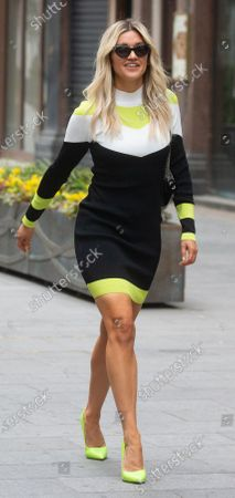 Ashley Roberts out and about in London. Ashley Roberts leaves Global Radio after presenting her show.