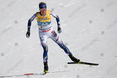 Second placed Frida Karlsson of Sweden competes during the 10km women's interval start free race at the FIS Nordic World Ski Championships in Oberstdorf, Germany