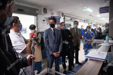 Editorial image of Gabriel Attal visits the resuscitation service of the Saint-Louis hospital, Paris, France - 02 Mar 2021