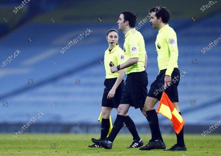 Assistant referee Sian Massey-Ellis