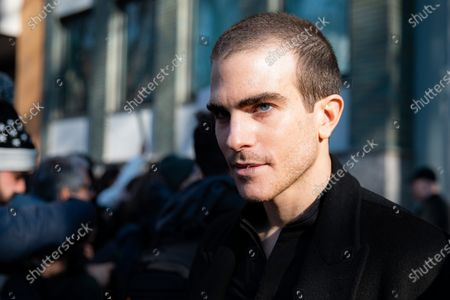 Carlo Sestini attends the Emporio Armani fashion show during Milan Men's Fashion Week Fall/Winter 2020/2021 on January 11, 2020 in Milan, Italy