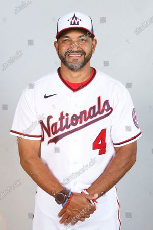 This is a 2021 photo of Dave Martinez of the Washington Nationals baseball team. This image reflects the Washington Nationals active roster as of when this image was taken