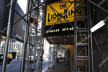 Editorial picture of Broadway Theaters Go Dark Amid The Coronavirus, New York City, United States - 13 Mar 2020