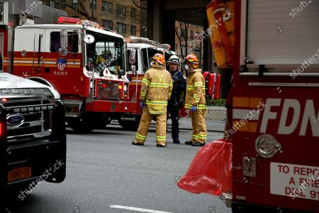 Editorial photo of New York Fire Department And Emergency Services At A High-rise, United States - 23 Apr 2020