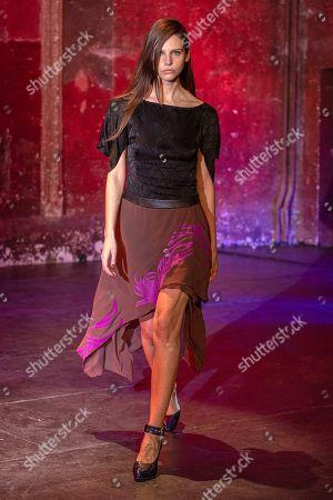 Editorial picture of Koche Runway, Autumn/Winter 2021, Paris Fashion Week, France - 27 Feb 2021