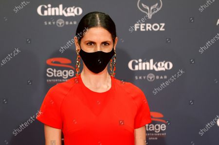 Barbara Santa Cruz poses on the red carpet during the 8th Feroz Awards gala at the Coliseum Theater in Madrid, Spain, 02 March 2021. The award handout ceremony acknowledges prominent works in Spanish cinema and television productions.