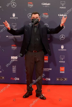 Alex Brendemuhl poses on the red carpet during the 8th Feroz Awards gala at the Coliseum Theater in Madrid, Spain, 02 March 2021. The award handout ceremony acknowledges prominent works in Spanish cinema and television productions.