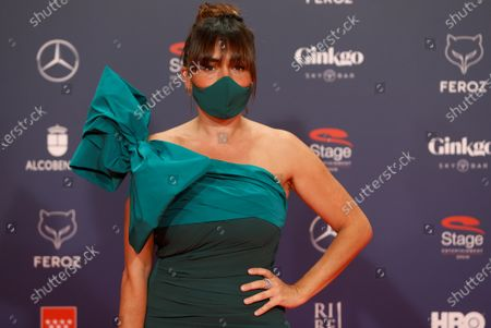 Candela Pena poses on the red carpet during the 8th Feroz Awards gala at the Coliseum Theater in Madrid, Spain, 02 March 2021. The award handout ceremony acknowledges prominent works in Spanish cinema and television productions.