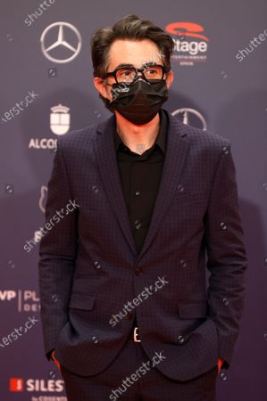 Spanish actor and humorist Berto Romero poses on the red carpet during the 8th Feroz Awards gala at the Coliseum Theater in Madrid, Spain, 02 March 2021. The award handout ceremony acknowledges prominent works in Spanish cinema and television productions.