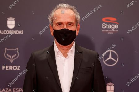 Stock Image of Guillermo Toledo poses on the red carpet during the 8th Feroz Awards gala at the Coliseum Theater in Madrid, Spain, 02 March 2021. The award handout ceremony acknowledges prominent works in Spanish cinema and television productions.