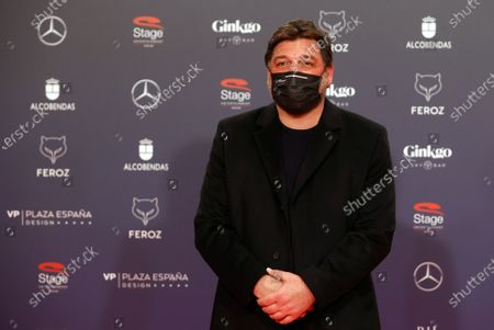 Hovik Keuchkerian poses on the red carpet during the 8th Feroz Awards gala at the Coliseum Theater in Madrid, Spain, 02 March 2021. The award handout ceremony acknowledges prominent works in Spanish cinema and television productions.